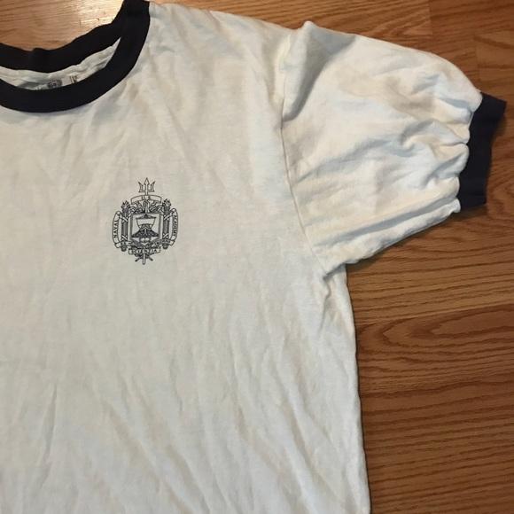 e313db3f Vintage Shirts   White Us Naval Academy Ringer Tshirt   Poshmark